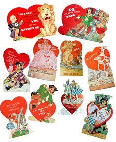 Wiz of oz valentines!!! Bebe'!!! Cute vintage Valentines!!!