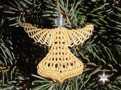 Tutorial: http://macramotiv.com/tutorial-angel-ornament-v1/ Makramé angyalka karácsonyi dísz macrame angel ornament  tutorial christmas