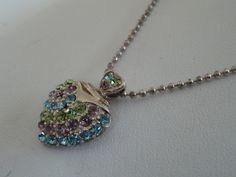 Vintage+pendant+heart+pendant+jeweled+heart+pendant+by+denise5960,+$29.50
