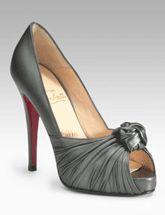 Open Toe Pump - Silk Peeptoe Heel - Cosmopolitan