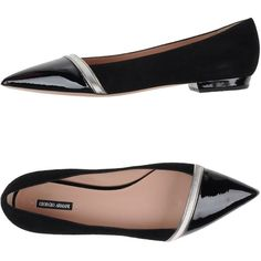 bf6de819f7c Giorgio Armani Ballet Flats ( 435) ❤ liked on Polyvore featuring shoes