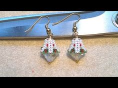 ▶ Beading4perfectionists : Beaded bead caps for 10mm Bicone beads earrings beading tutorial - YouTube
