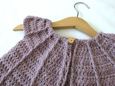 How to crochet a little girl's cable cardigan / sweater - YouTube