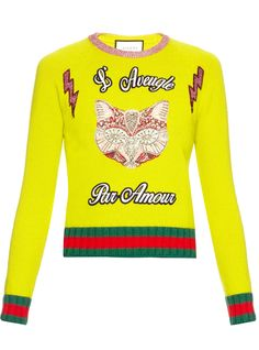 The slogan knit is the perfect way to perk up a dull autumn outfit. Check out our 3 favourite ways to work the knit from weekend to office to cocktails. Cat Sweaters, Sweaters For Women, Toxic Plants For Cats, Allergic To Cats, Angora Cats, Cats Eye Stone, Yellow Cat, Yellow Sweater, Christmas Sweaters