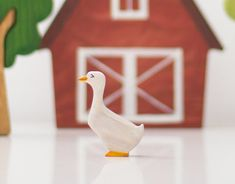 Goose toy Barn Yard Animals Learning toy by WoodenCaterpillar