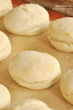 Make your own delicious, yeasty angel biscuits at home. The dough can be stored in the refrigerator. It makes adding them to a meal so easy! Angel Biscuits, Good Food, Yummy Food, Fun Food, Tasty, Do It Yourself Fashion, Biscuit Recipe, Sweet Bread, Fresh Bread