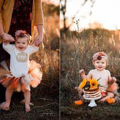 Fall First Birthday, Pumpkin First Birthday, Fall 1st Birthdays, Pumpkin 1st Birthdays, Birthday Girl Pictures, 1st Birthday Photoshoot, First Birthday Pictures, Baby Girl 1st Birthday, Girl Birthday Themes