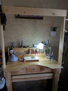 Mi mesa de joyera. Me encanta!!