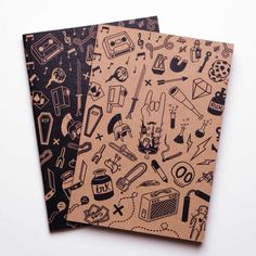 Stunning doodle filled notebook design by http://alt-a.es/A5books - it makes us want to start drawing! #Artist #Notebooks