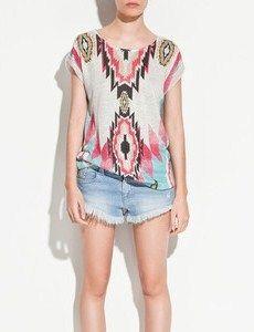 #ZARA ethnic print shirt #fashion