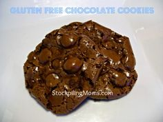 Gluten Free Chocolate Cookies Recipe - they are SO good!  http://www.stockpilingmoms.com/2012/08/gluten-free-chocolate-cookies/
