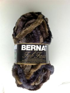 Bernat Fab Faux Fur Yarn MINK / Yarn / Faux by dcoyshouseofyarn