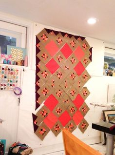 How to Make an easy, Portable Design Wall at Wise Craft