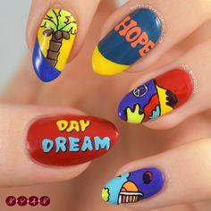 Uñas de j-hope Daydream creado por Not Your Average Nails K Pop Nails, Hair And Nails, Gel Nails, Cute Acrylic Nails, Cute Nails, Pretty Nails, Korean Nail Art, Korean Nails, Army Nails