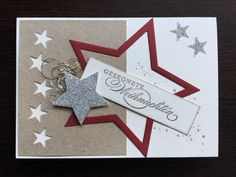 Teilweise mit Stampin up Produkten herg… Handmade card / Christmas card.Partially made with Stampin up products. 30 Diy Christmas Gifts, Christmas Candy, Handmade Christmas, Diy Gifts, Handmade Gifts, Stampin Up, Birthday Cards For Men, Woodland Party, Handmade Home Decor