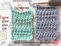 Hekel Idees: Hekel Tutoriaal: in plaas van 'n Nuwe Tegniek? Crochet Stitches, Crochet Patterns, Crochet Tutorials, Crochet Afghans, Diy Crochet, Crochet Hats, Crochet Ideas, Basic Shapes, Double Crochet