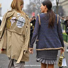 good from the back. #VirginieMouzat & Gio in Paris. #GiovannaBattaglia