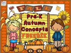 It's pumpkin time again! We hope that you enjoy this newly revised freebie document using fun fall-themed clip art.  It is a wonderful autumn time concept packet that would be perfect for use with many Pre-K students! Fill free to use as worksheets (simply download and print out in black ink) or for posting around the classroom or therapy room (great choice for colored ink printing.) What you will find inside this free concept packet:1) A concept worksheet asking for the preschooler to find…