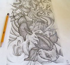 women's half sleeve tattoo ideas | Dragon Koi Half Sleeve Tattoo By Brado Umg Tattoo Design Image ...
