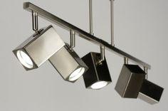 hanglamp 71555: modern, design, staal , rvs, vierkant, langwerpig ...