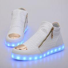 4000e22a926b US  79.99  Aliexpress.com   Buy Unisex light shoes for adults Led Shoes  With Light Fashion Luminous Usb Zip Top Brand Grow Casual Schoenen Met  Licht Shoe ...