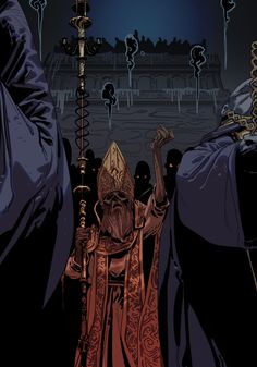 ArtStation - Deacons of the Deep, Ershao Guo Arte Dark Souls, Soul Saga, Bloodborne Art, Dark Blood, Gothic Horror, Fantasy Warrior, Dark Fantasy Art, Demon King, Bear Art