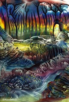 ~The Whispering Forest~ ©MysticRaven  Encaustic