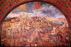 Conquest of Oran, 1509, painted by Juan de Borgoña, Spain, 1514