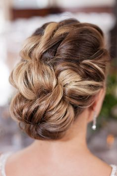 Wedding braided updo Sophisticated Style Wedding Inspiration photo credit TowersBrooks Photography | The Pink Bride® www.thepinkbride.com