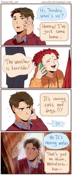 Haikyuu!! Bad Weather by Suncelia on DeviantArt LOOK AT HIM CHECK OUTSIDE SO CUTE