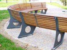 curved bench with back