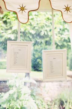 simple framed seating charts // photo by David Jenkins Photography // View more: http://ruffledblog.com/english-fusion-wedding/