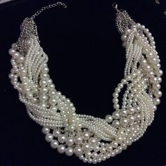 It Girl Party HP Faux pearl braided necklace. Indulge urself with this gorgeous vintage style braided necklace. Jewelry Necklaces