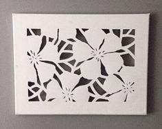 Canvas Cut Letter by DzignCustomArt on Etsy