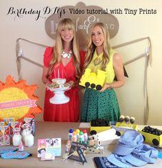 Linen, Lace, & Love: Tiny Prints Birthday Party DIY Video
