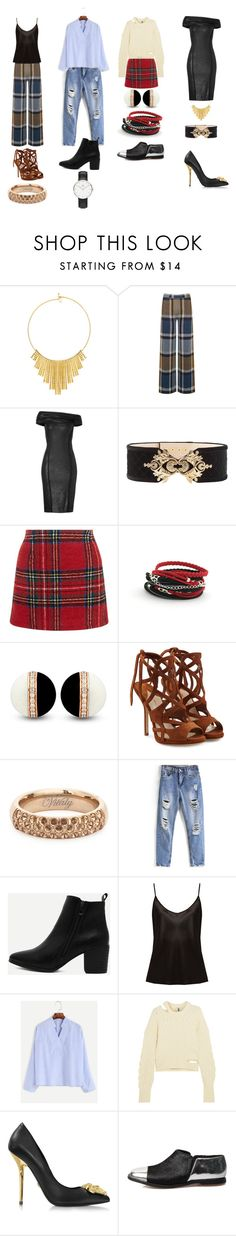 """""""Sans titre #36"""" by elyanne-c-messier ❤ liked on Polyvore featuring BERRICLE, Warehouse, Donna Karan, Balmain, New Look, Paul Andrew, Vitaly, La Perla, Topshop Unique and Versace"""
