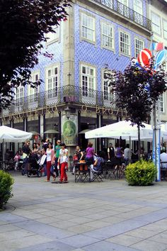 Corner Café in Braga,Portugal Braga Portugal, Spain And Portugal, Portugal Travel, Europe Holidays, Portugal Holidays, Travel 2017, Most Beautiful Cities, Countries Of The World, Portuguese