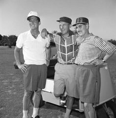 How's this for a threesome on the links  Dean Martin  Bing Crosby & Groucho Marx