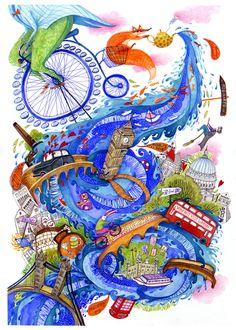 5 o'clock Thames by madalina andronic, via Behance