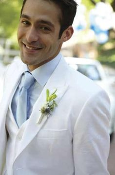 It's not just brides who can wear white! Suit from Jasper Conran, £1025