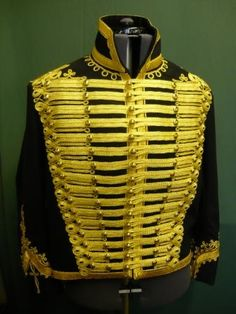 Front view of a dolman of the 11th Hussars (Prince Albert's Own) cavalry regiment of the British Army.