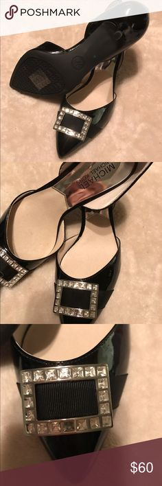 Michael Kors Black Patent Leather Low Pumps These stunning low pumps w/bling are perfect for work or for an evening out. The low heel provides lift but helps maintain comfort. Take advantage of this deal! Michael Kors Shoes Heels
