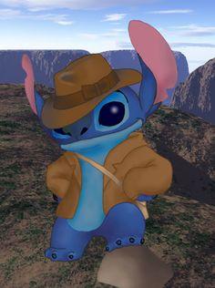 Stitch as Indiana Jones