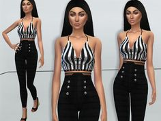 The Sims Resource: Chic Jumpsuit by Puresim • Sims 4 Downloads