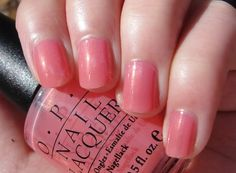 Citrine's Blog - Lip gloss, lipstick and all that good stuff...: OPI Nail Lacquer in Shimmering Coral Jelly