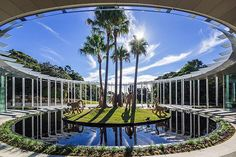 The Calyx is the newest inner city venue, making for the perfect space for your next wow factor event. Architecture Collage, Garden Architecture, Architecture Design, Circular Buildings, Modern Buildings, Tucson, Royal Botanic Gardens Sydney, Louvre Windows, Outdoor Areas