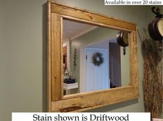 Renewed Décor Herringbone Reclaimed Wood Mirror in 20 stain colors - Large Wall Mirror - Rustic Modern Home - Home Decor - Mirror - Housewares - Woodwork - Frame - Stained Mirror ** Be sure to check out this awesome product. (This is an affiliate link and I receive a commission for the sales)