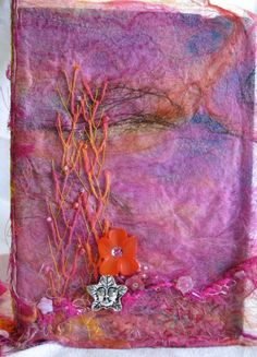Just one of the many uses for Silk Paper. Learn to make your own in Silk Dreams @ Art Retreat Workshops and Art Festival by Art and Soul Retreat