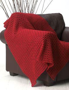 Yarnspirations.com - Bernat Basic and Easy (Red) Blanket - Patterns  | Yarnspirations - (Pattern Downloaded - SLT)