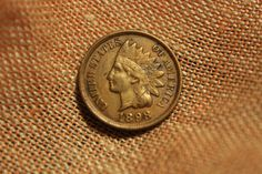 1898 Indian Cent by Myvints on Etsy, $5.00